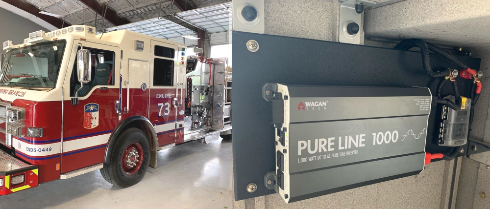 pure line inverter fire truck
