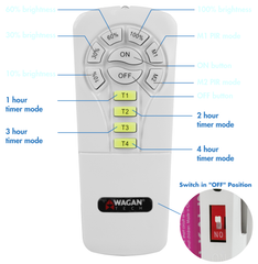 WAGAN SOLAR FLOODLIGHT REMOTE