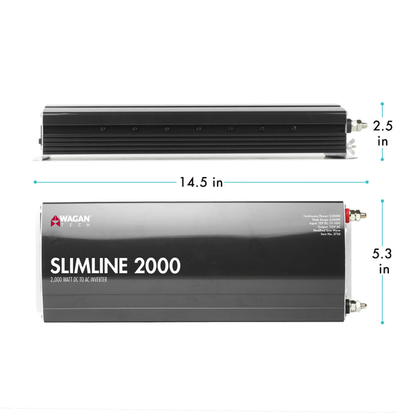 SlimLine AC Inverter 2000 Watt