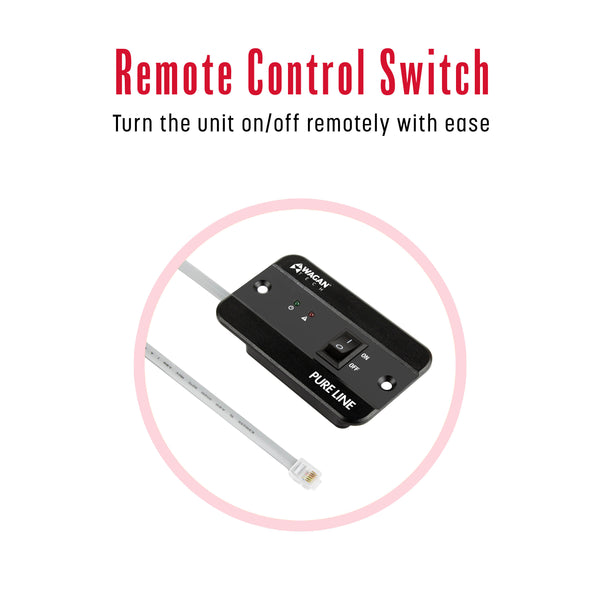 Wired remote for Wagan Tech PURE LINE Power Inverters