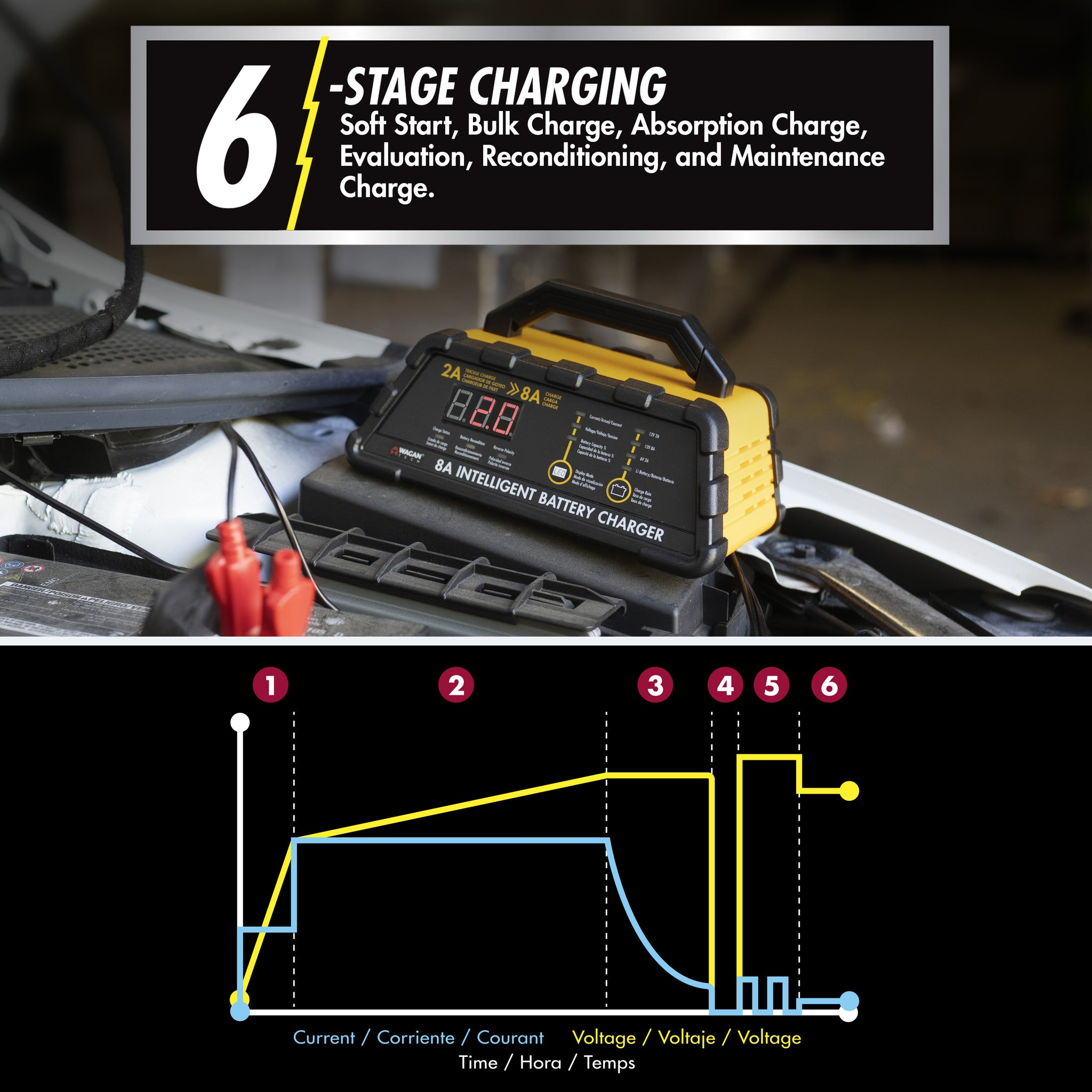 8A Intelligent Battery Charger