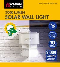 2000 Lumen Solar Wall Light