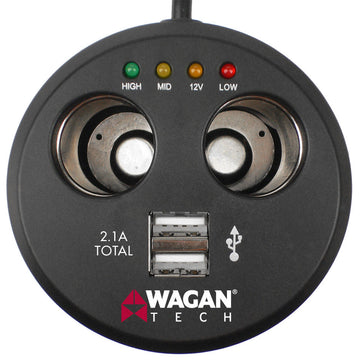 Twin USB Sockets Cupholder Adapter