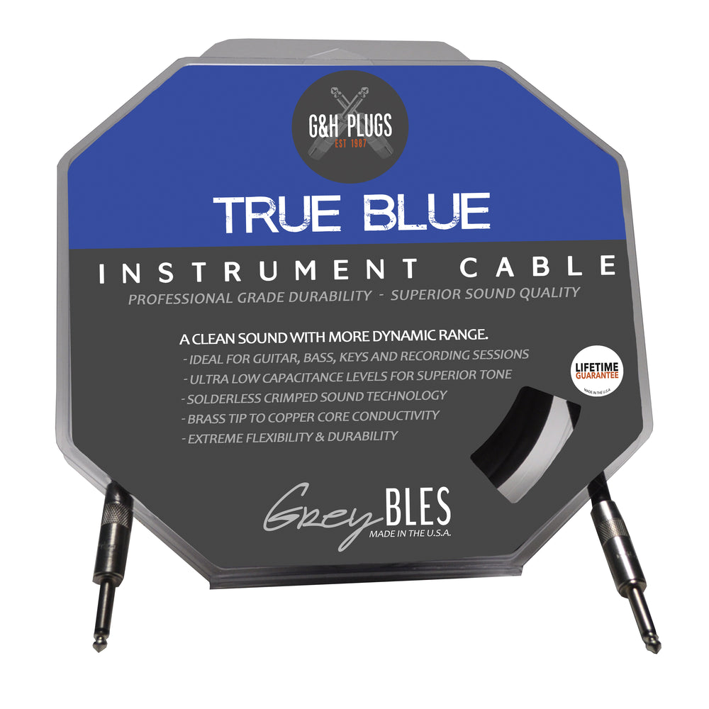 G&H True Blue Solderles Guitar Cable 15 ft
