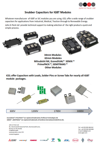 Snubber Capacitors for IGBT Modules