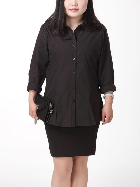 Hana Formal Work Short Sleeve Shirt / Long Sleeve Shirt (EXTRA BIG SIZE!)