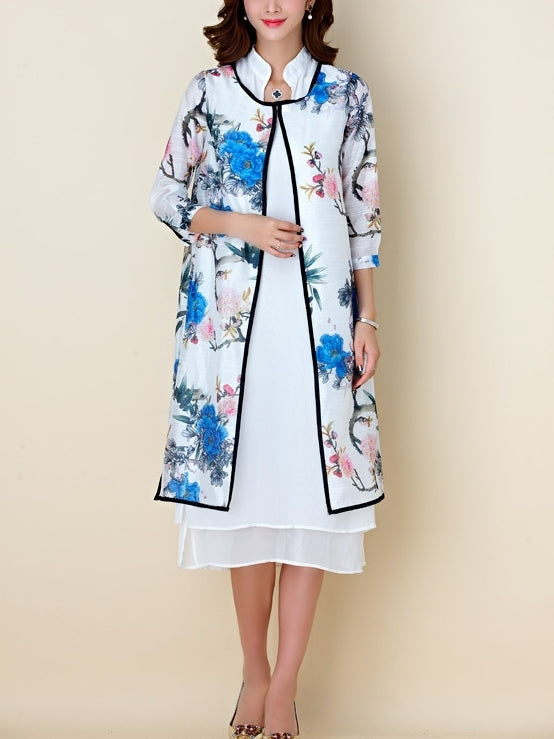 Regal 2 Piece Set Jacket + Dress Oriental Qipao Cheongsam