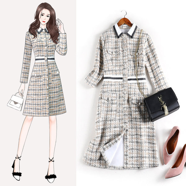 Ky-Asia plus size chanel-esque tweed dress