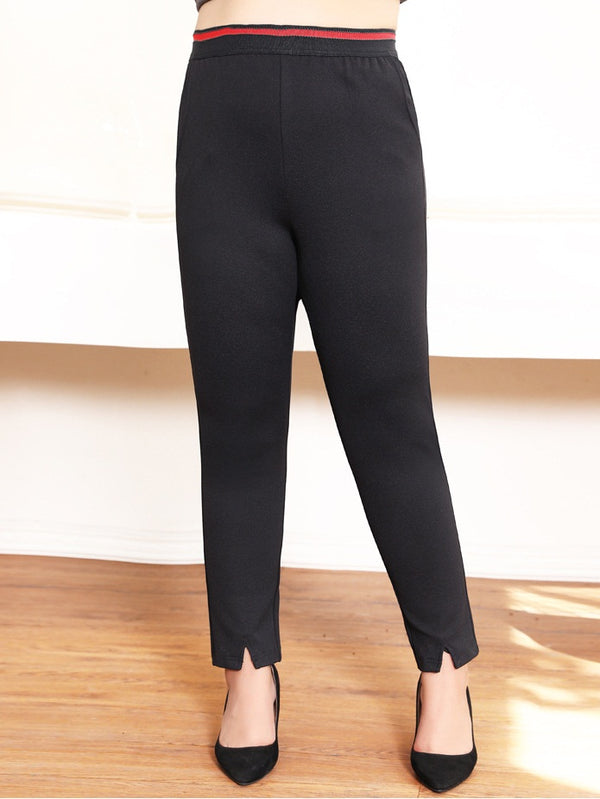 Serendipity Slit Stretch Slimming L/S Pants (EXTRA BIG SIZE)