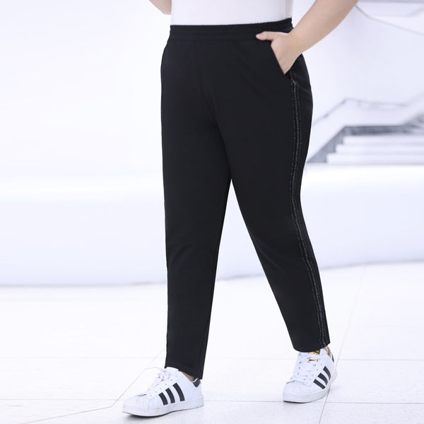 Plus Size Shimmer Side Track Pants (EXTRA BIG SIZE)