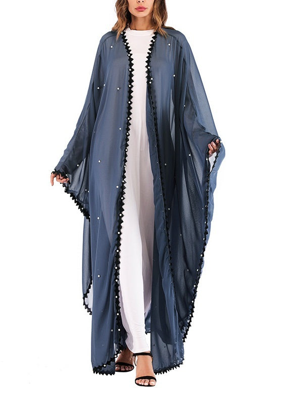 Morgana Pearl Adorned One-size-fits-all Cover Maxi Jacket