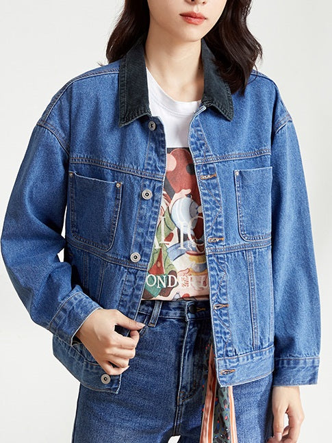 Zdislava PREMIUM Plus Size Blue Denim Jacket