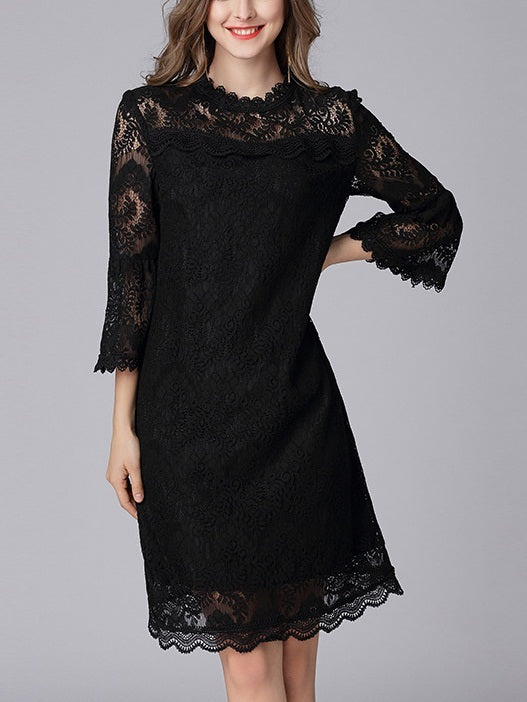 Kay Bell Sleeve Lace Dress