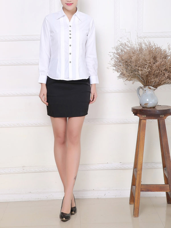 Multi-facet Button Shirt (White)