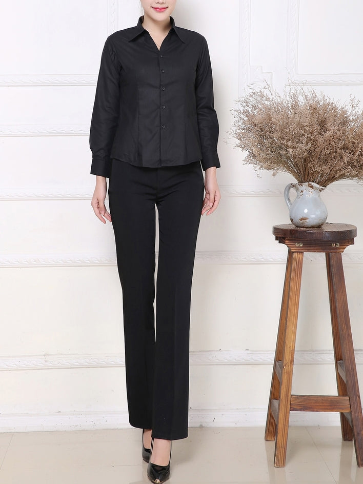 Black Sleek Business Shirt (2 Lengths)