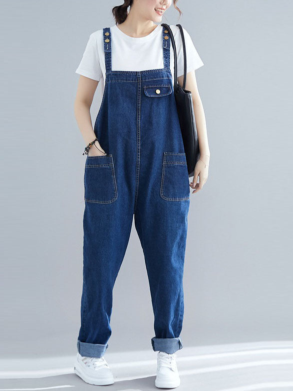 Orsola Denim Dungaree  (EXTRA BIG SIZE)