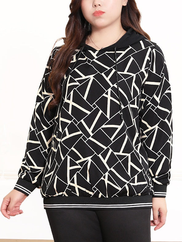 Seretha Shapes Hoody L/S Top