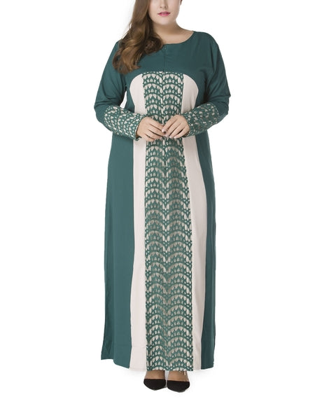 (XL-7XL) Ginnie Lace Panel Maxi Dress