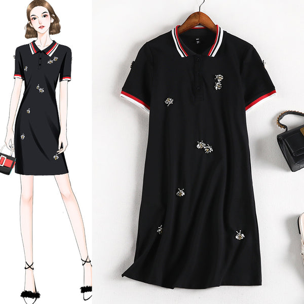 Reilly Bee Jewels S/S Polo Tee Shirt Dress