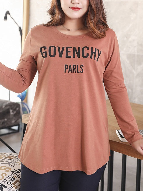 Sinforiana Orange Govenchy L/S Tee Shirt Top (EXTRA BIG SIZE)