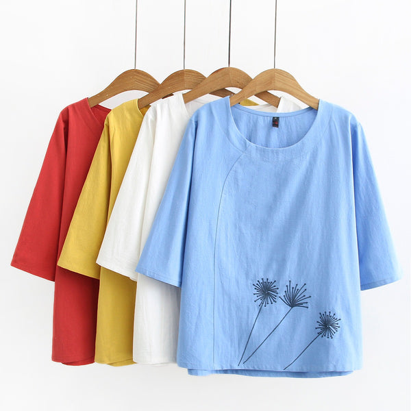 Greta Plus Size Dandelion Top