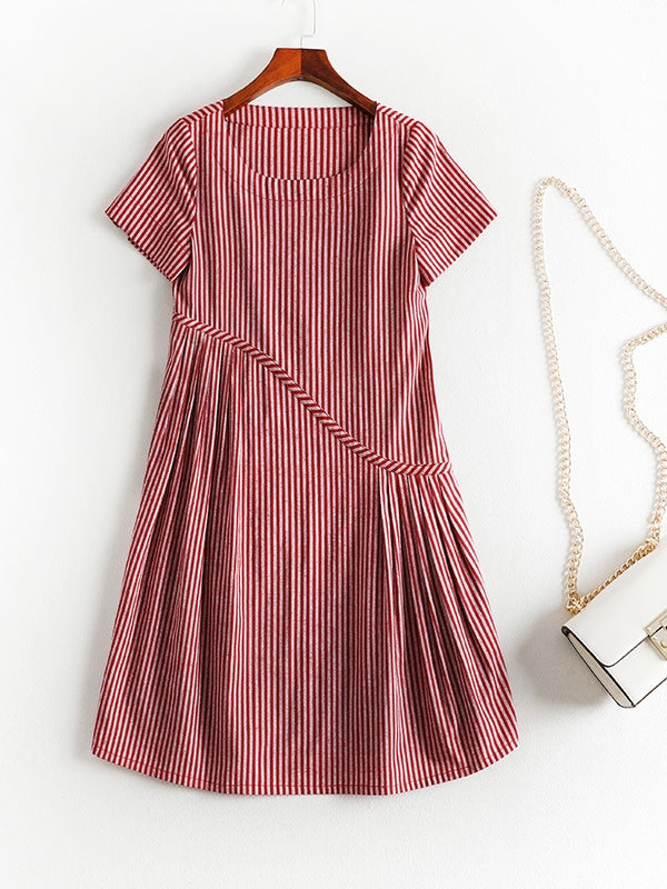 Red Stripe S/S Dress