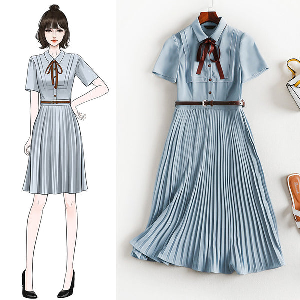Redell Blue Belted S/S Shirt Dress
