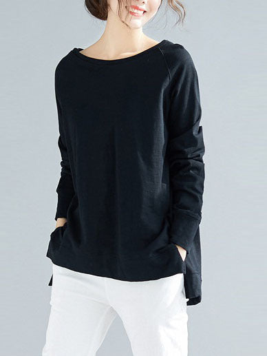 Ottaline Bamboo Cotton Pullover Top (EXTRA BIG SIZE)