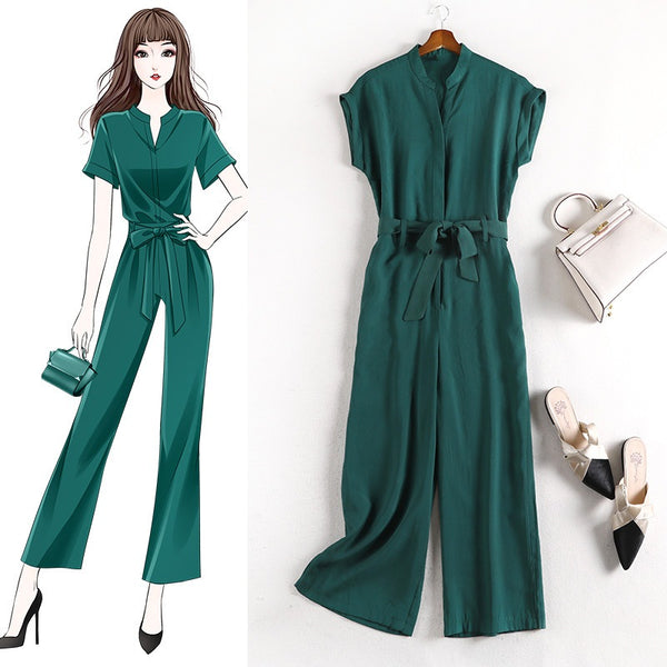 Angeli Plus Size Green Jumpsuit