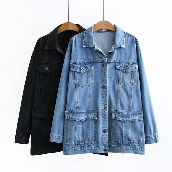 Kyra Plus Size Long Denim Jacket