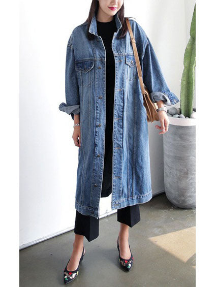 Sunshine Plus Size Denim Long Autumn Jacket