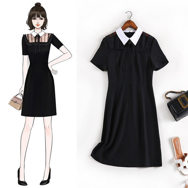 Egbertine Plus Size Chanel-Esque Short Sleeve Shirt Dress