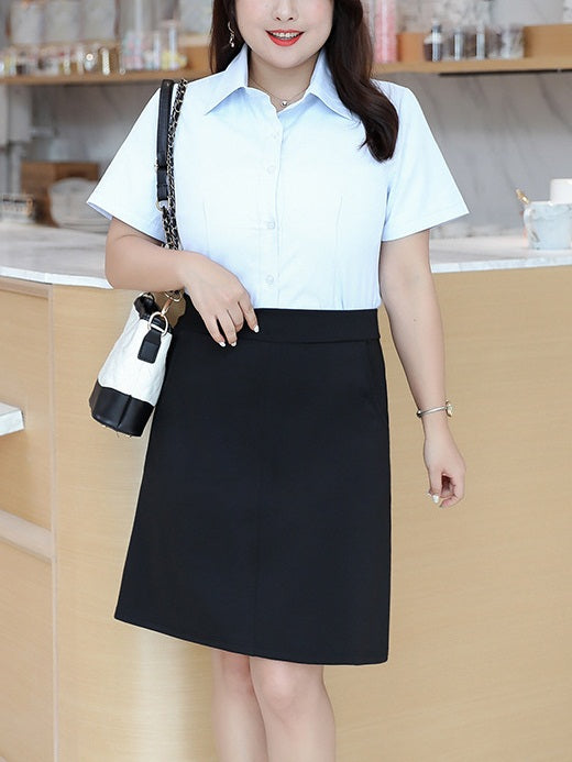 Ellesse Plus Size Work Short Skirt Black With Safety Inner Shorts