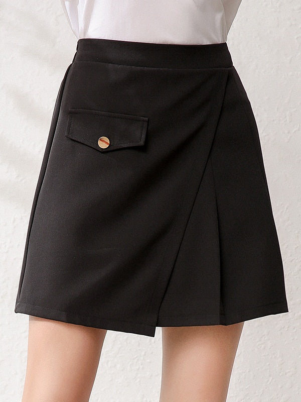 Jorcina Plus Size Pleated Mini Skirt