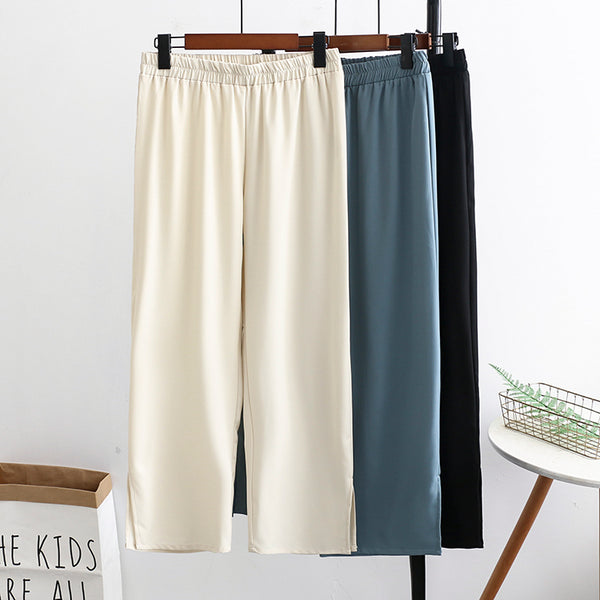 Kaniqua Plus Size Wide Leg Pants (EXTRA BIG SIZE)