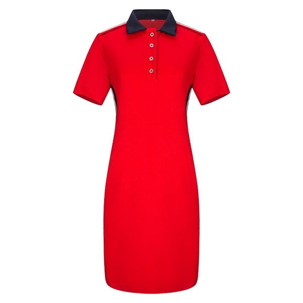 Mikenzie Colourblock Polo Tee Dress
