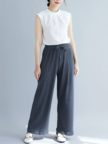 Orit Pleat Wide Leg Pants (EXTRA BIG SIZE)