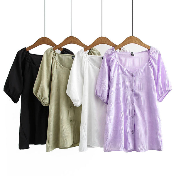 Janell Plus Size V Neck Blouse (EXTRA BIG SIZE)