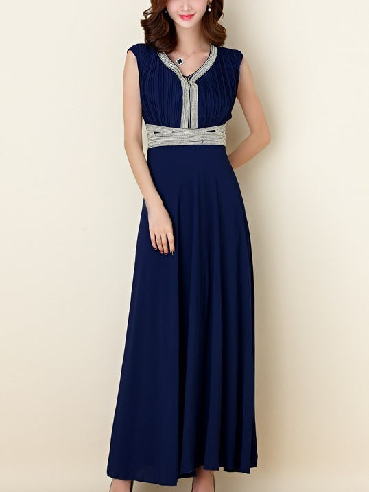 Karliah Diamante Plus Size Occasion Party Wedding Evening Bridesmaid Sleeveless Maxi Dress Gown