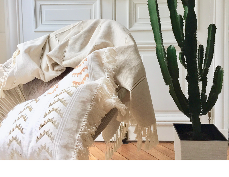 CALADO HANDWOVEN COTTON THROW