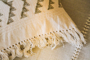 CORONA OLIVE GREEEN HANDWOVEN CUSHION COVER