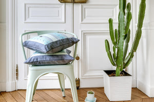 MINT DENIM CUSHION COVER