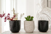 DECORATIVE BLACK POT
