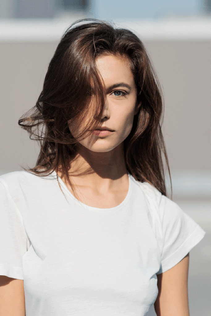 Organic Cashmere&Cotton T-shirt in White