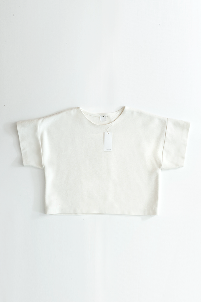 (non)t-shirt Cashmere-Wool T-shirt in Off White