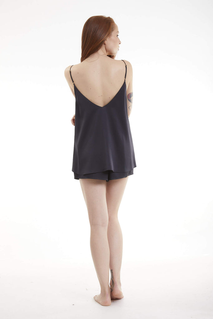 Organic Peace Silk Camisole in Black