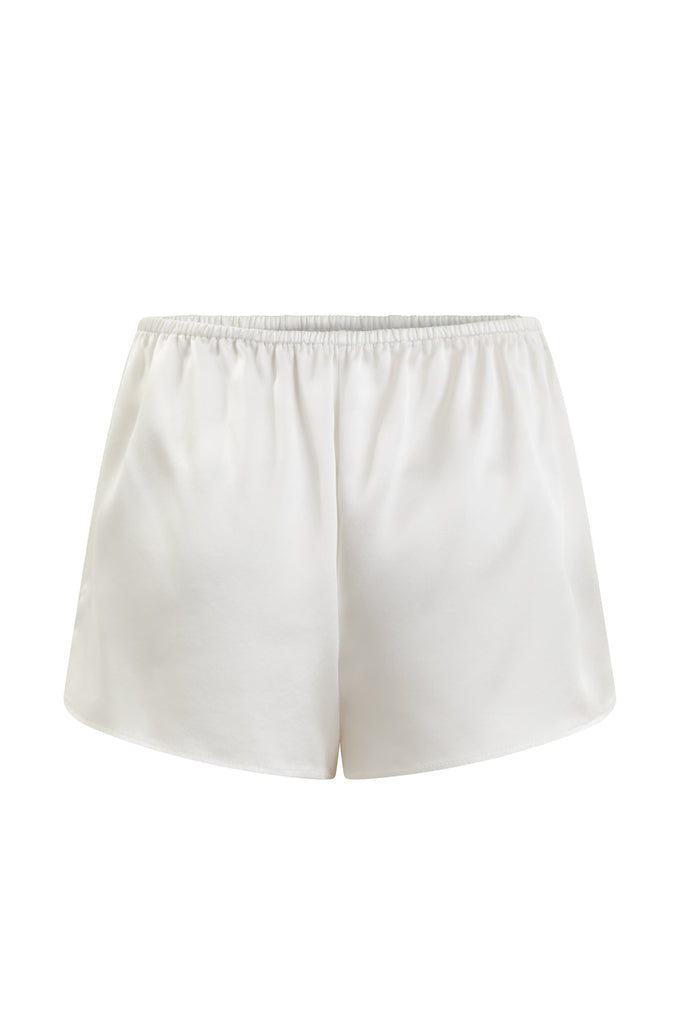 Organic Peace Silk Shorts in Ivory