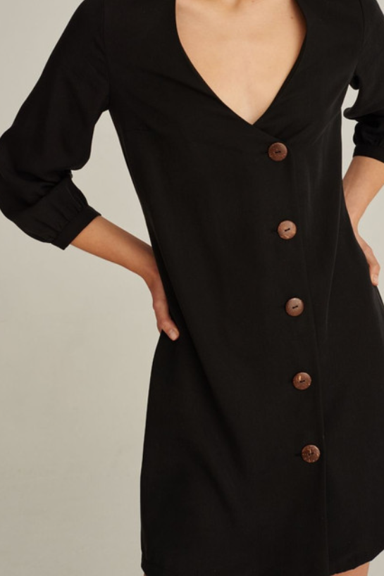 07/01 Natural TENCEL™ Lyocell Dress in Black