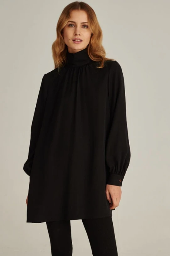 07/04 Natural TENCEL™ Lyocell Dress in Black