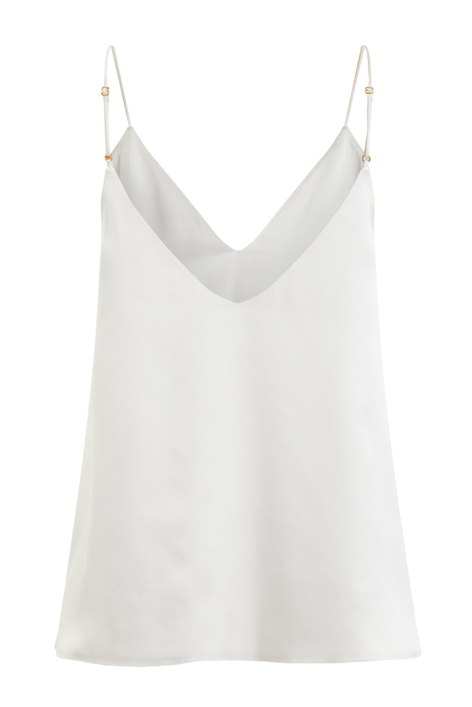 Organic Peace Silk Camisole in Ivory